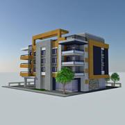 Modern Apartment City Building HD Cityscape Tile 5 3d model