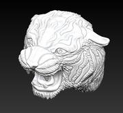 Angry Tiger head 3d model