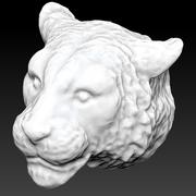 Sibirisk tigerhuvud 3d model