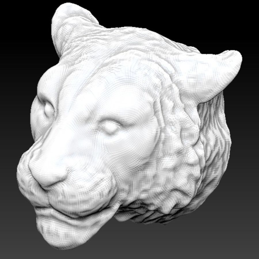 Siberian tiger head royalty-free 3d model - Preview no. 1