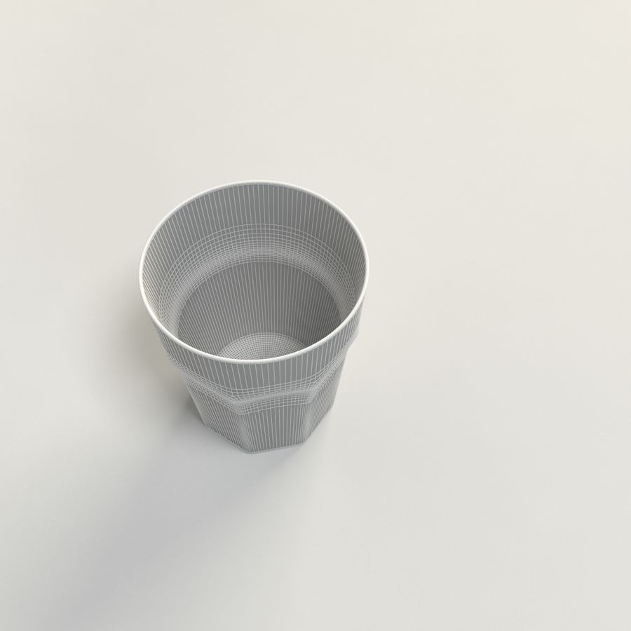 clear glass royalty-free 3d model - Preview no. 5