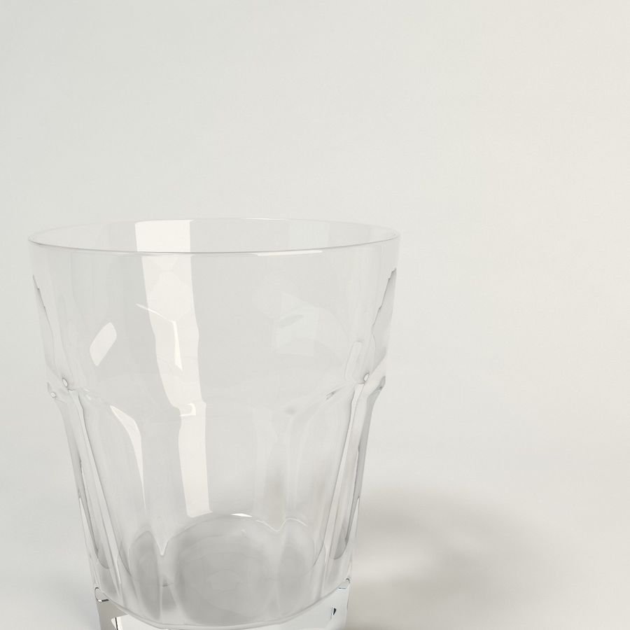 clear glass royalty-free 3d model - Preview no. 3