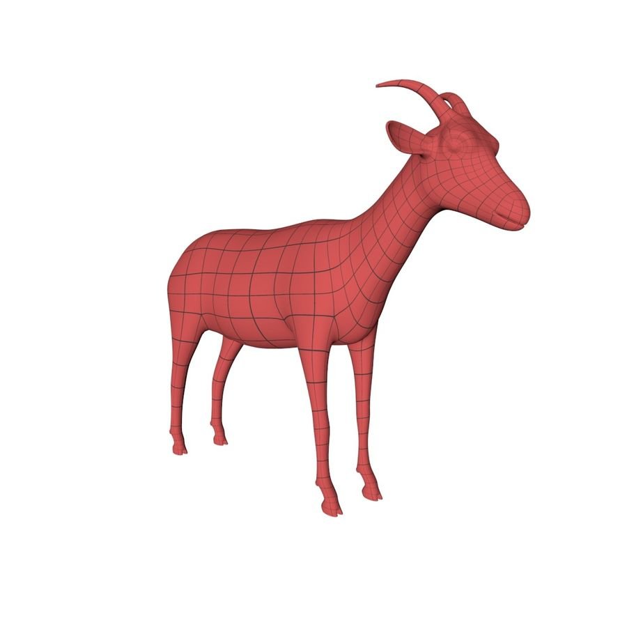Goat base mesh royalty-free 3d model - Preview no. 2