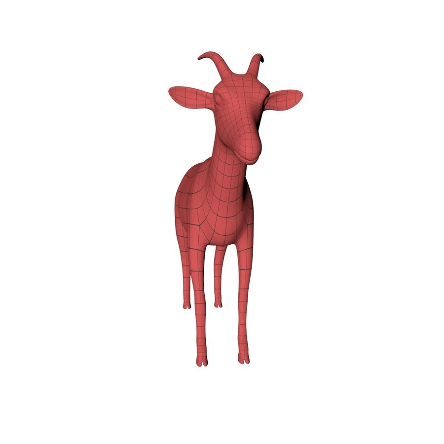 Goat base mesh royalty-free 3d model - Preview no. 3