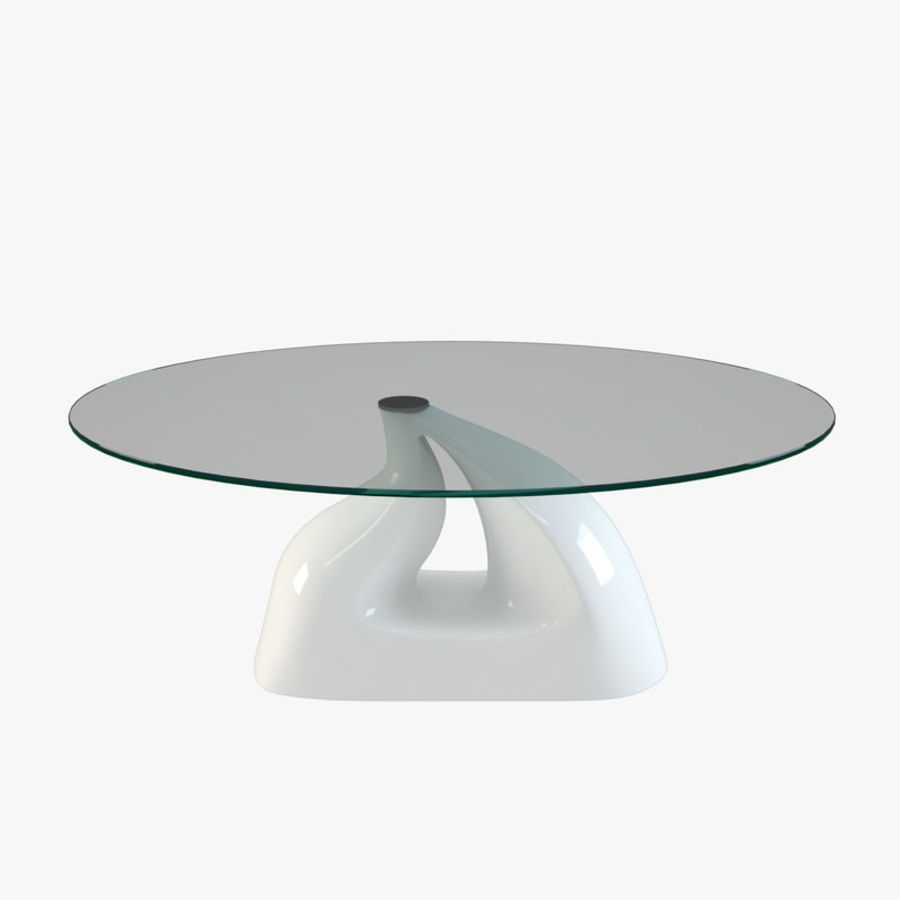 Modern Glass Table (Curved) 002 Royalty Free 3d Model   Preview No.