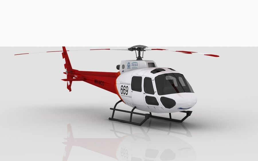 Eurocopter AS350 Skin 3 royalty-free 3d model - Preview no. 2