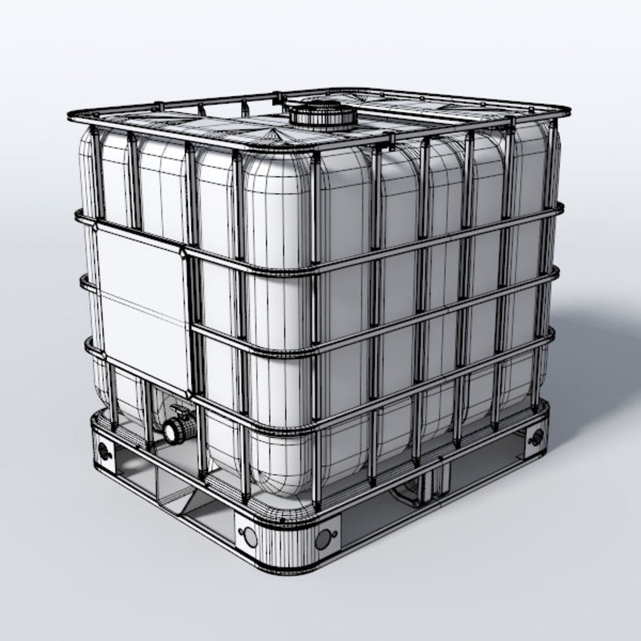 IBC Water Container royalty-free 3d model - Preview no. 4