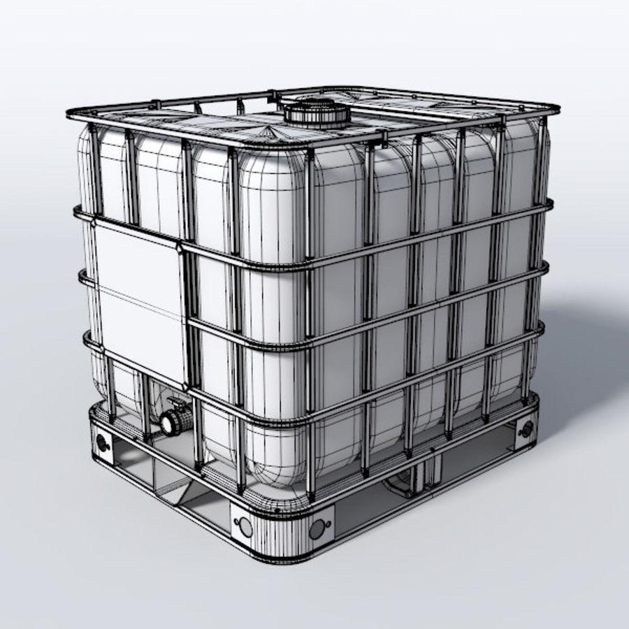 IBC контейнер для воды royalty-free 3d model - Preview no. 4