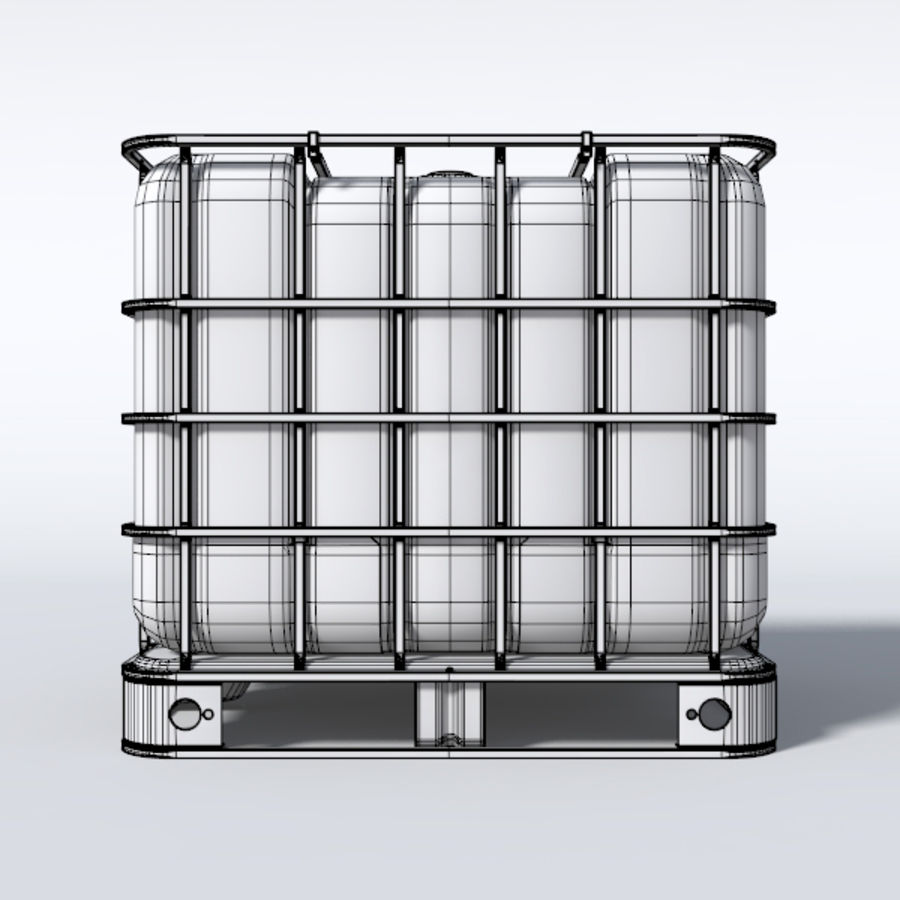 IBC Water Container royalty-free 3d model - Preview no. 5