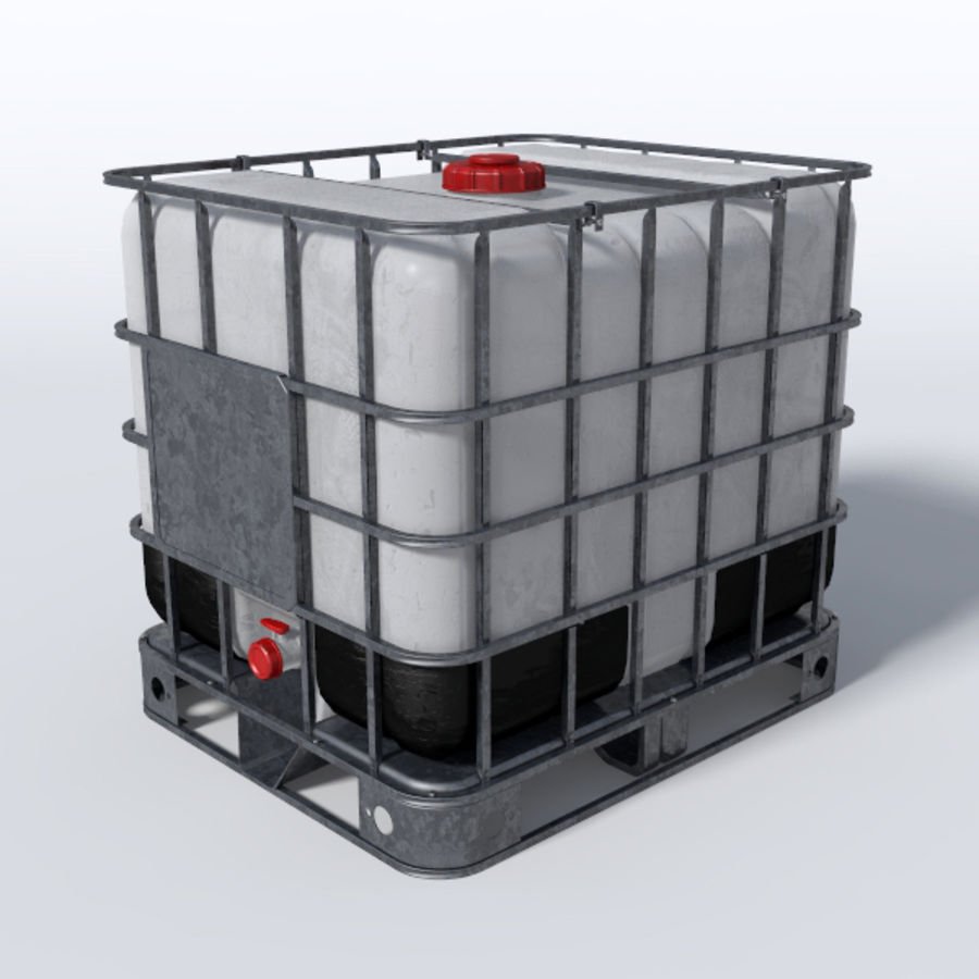 IBC Water Container royalty-free 3d model - Preview no. 1