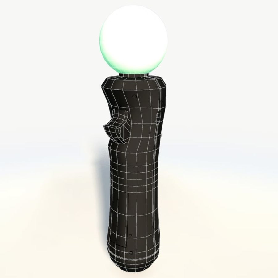 Sony playstation move low poly royalty-free 3d model - Preview no. 7