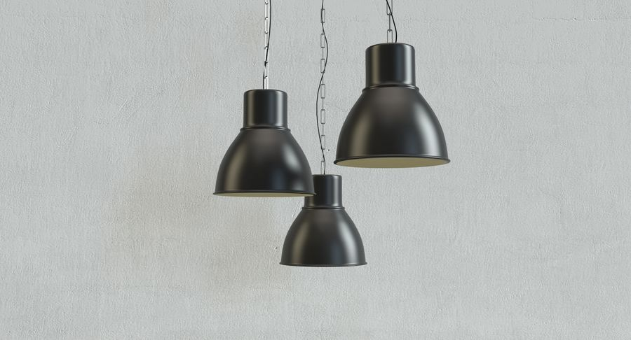 Lampade A Sospensione Ikea : Ikea hektar lampada a sospensione modello 3d $7 .max .obj .oth