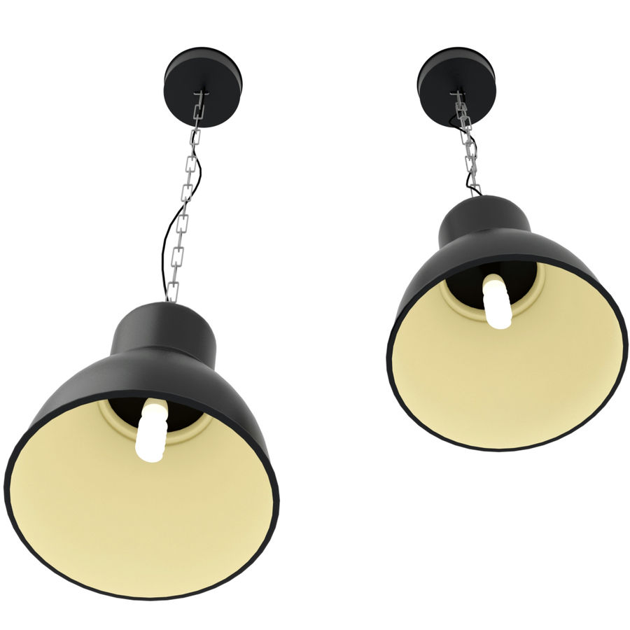 IKEA hektar - hanging lamp royalty-free 3d model - Preview no. 4