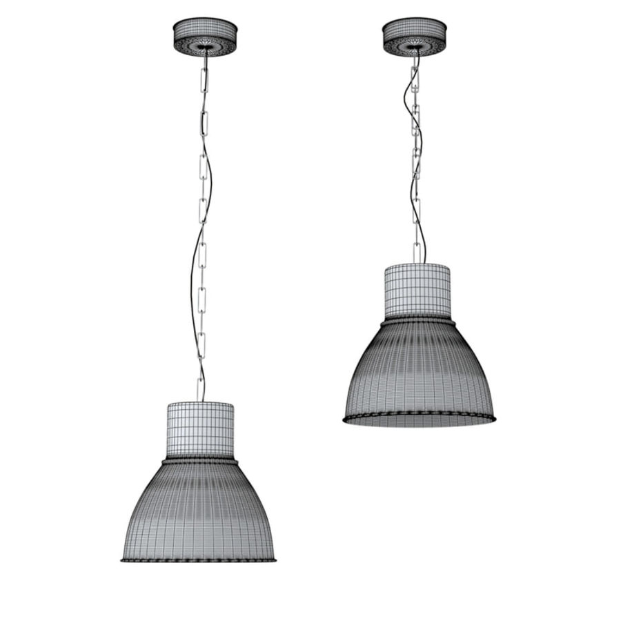 2 IKEA Hektar   Hanging Lamp Royalty Free 3d Model   Preview No.