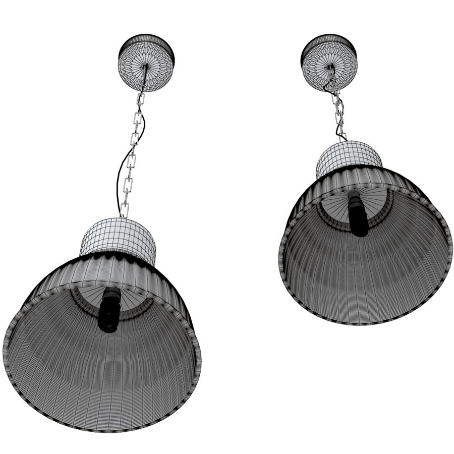 IKEA hektar - hanging lamp royalty-free 3d model - Preview no. 5