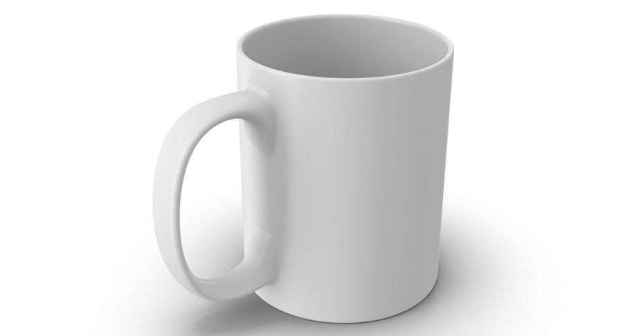Empty Cup royalty-free 3d model - Preview no. 3