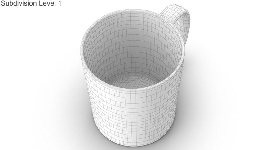 Empty Cup royalty-free 3d model - Preview no. 36