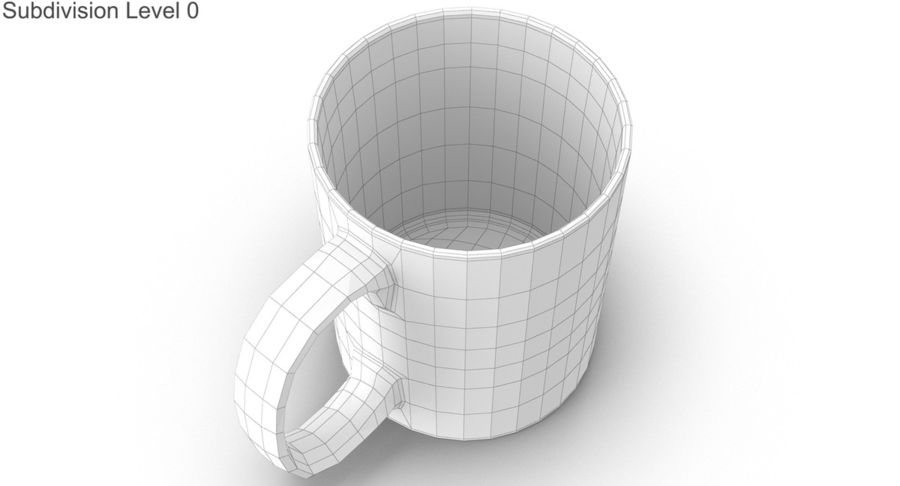 Empty Cup royalty-free 3d model - Preview no. 22