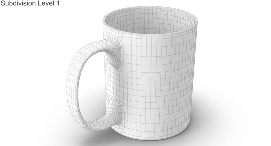 Empty Cup royalty-free 3d model - Preview no. 33
