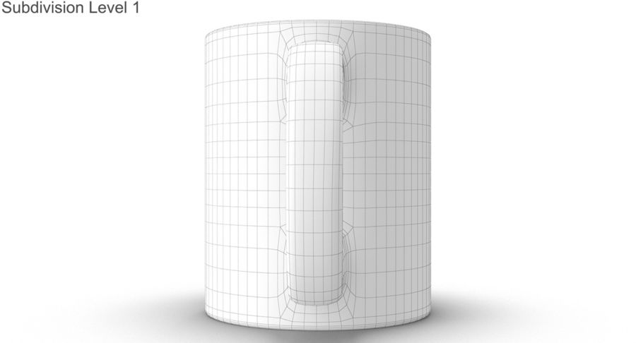 Empty Cup royalty-free 3d model - Preview no. 46