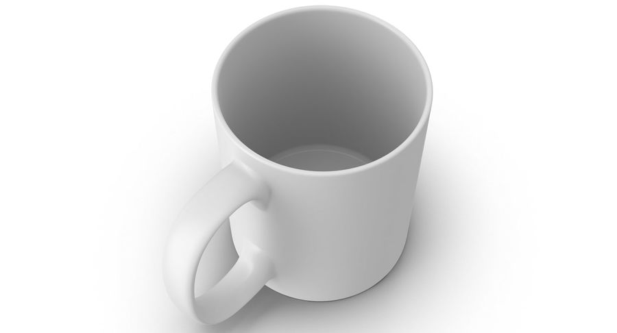 Empty Cup royalty-free 3d model - Preview no. 7