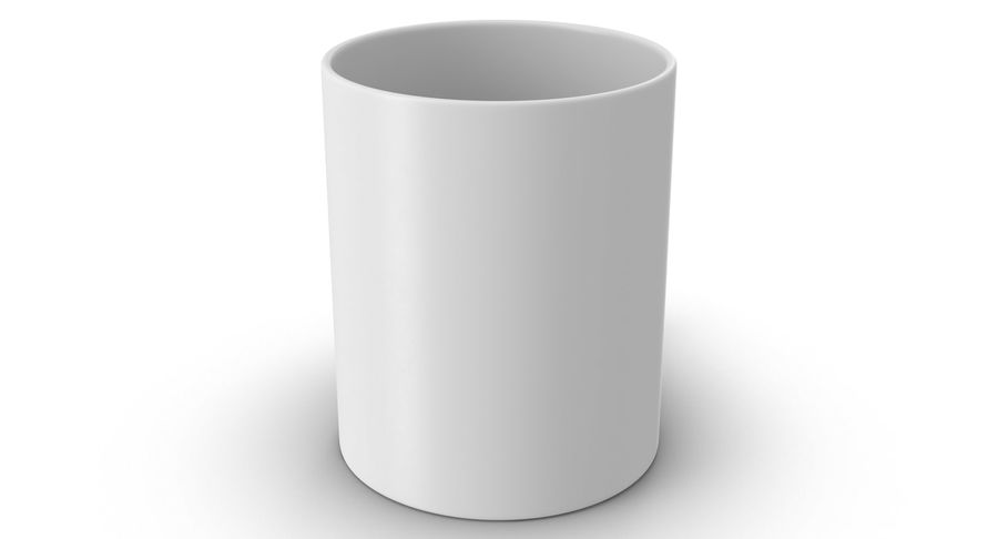 Empty Cup royalty-free 3d model - Preview no. 4