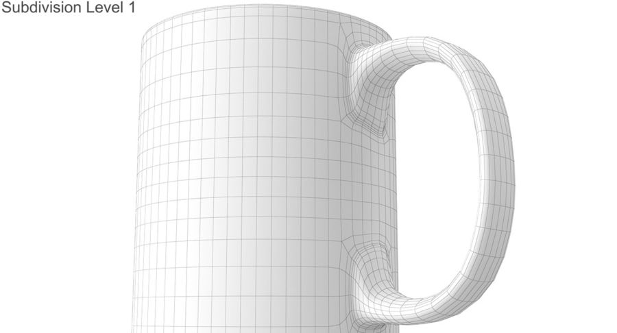Empty Cup royalty-free 3d model - Preview no. 40