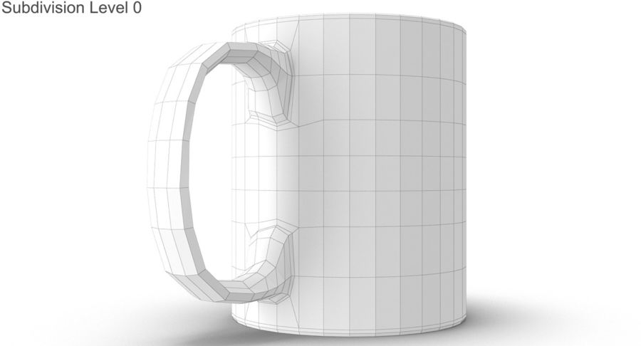 Empty Cup royalty-free 3d model - Preview no. 23
