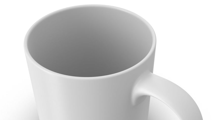 Empty Cup royalty-free 3d model - Preview no. 11