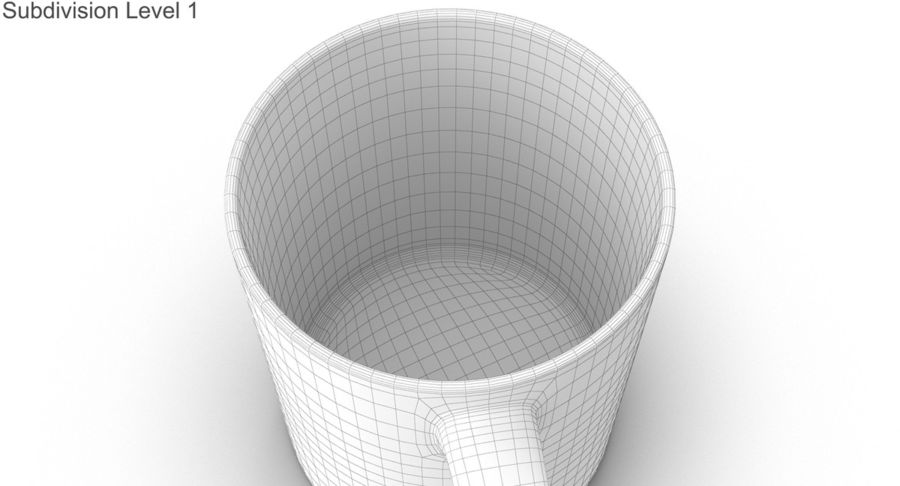 Empty Cup royalty-free 3d model - Preview no. 42
