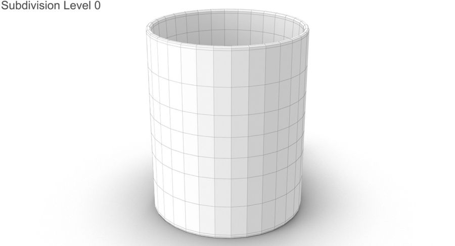 Empty Cup royalty-free 3d model - Preview no. 19