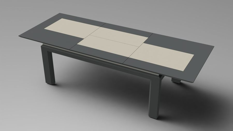 Extendable Modern Table royalty-free 3d model - Preview no. 2