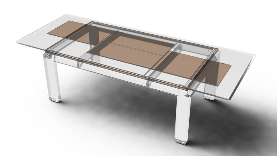Extendable Modern Table royalty-free 3d model - Preview no. 13