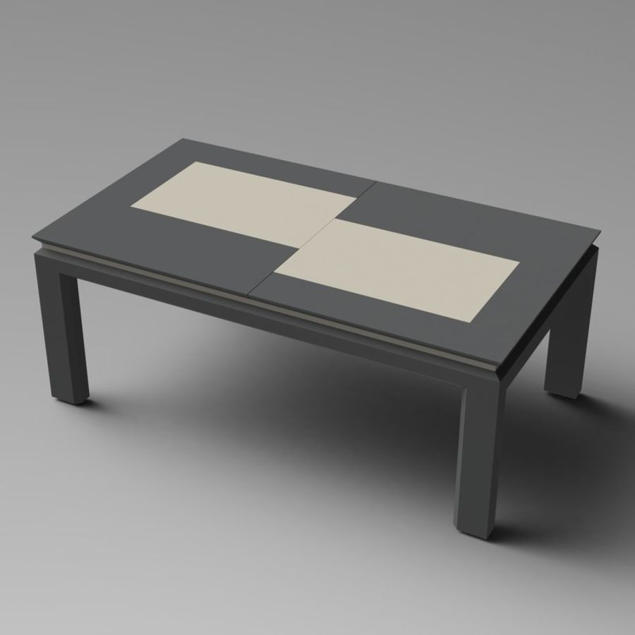 Extendable Modern Table royalty-free 3d model - Preview no. 1