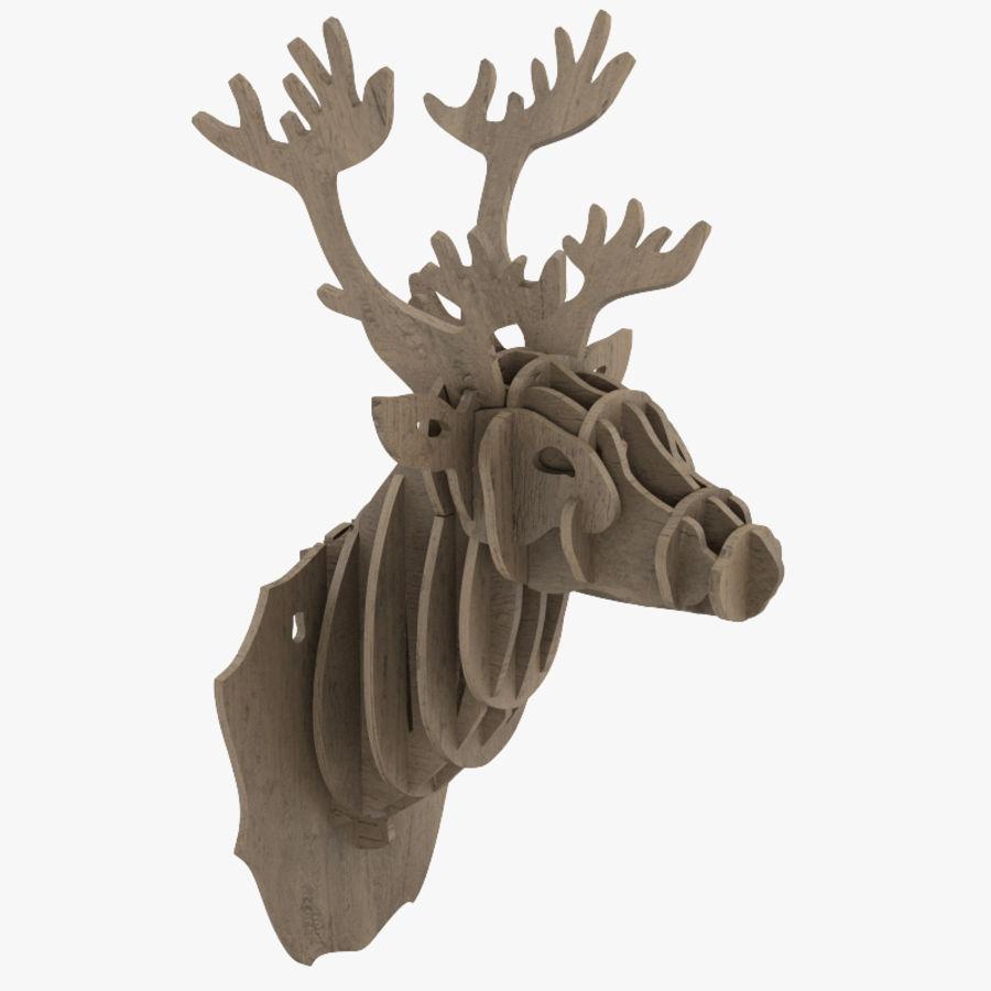 Cardboard Stag Head Royalty Free 3d Model