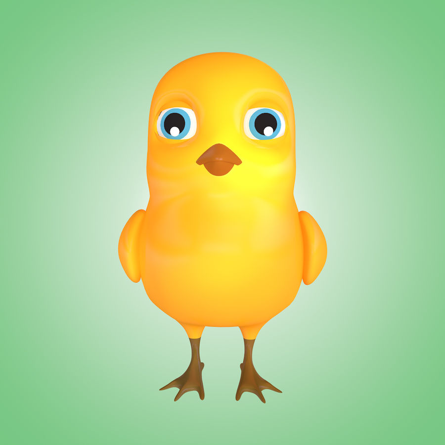 Chick royalty-free 3d model - Preview no. 5