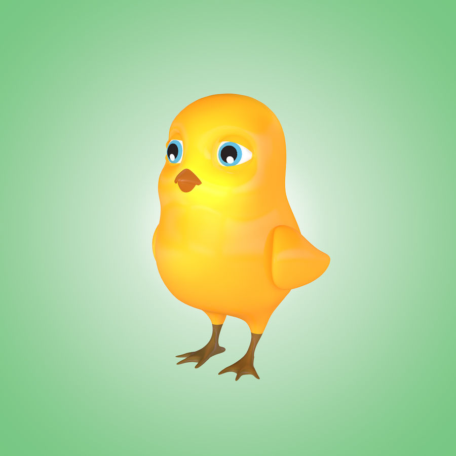 Chick royalty-free 3d model - Preview no. 1