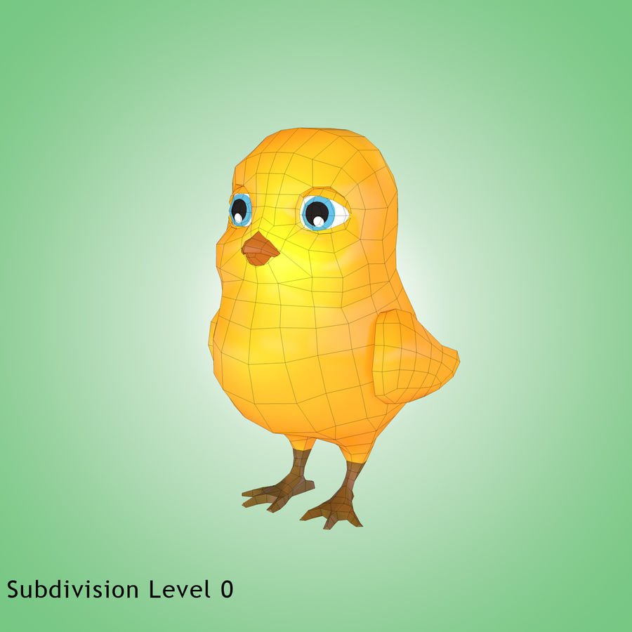 Chick royalty-free 3d model - Preview no. 11