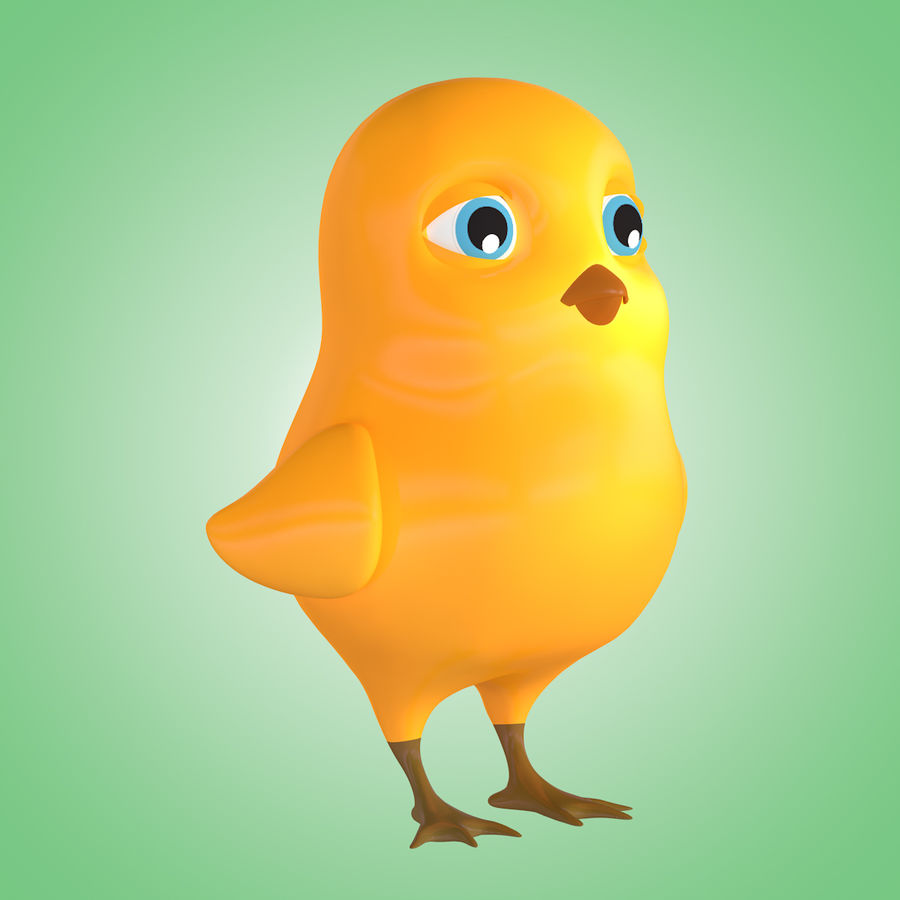 Chick royalty-free 3d model - Preview no. 4