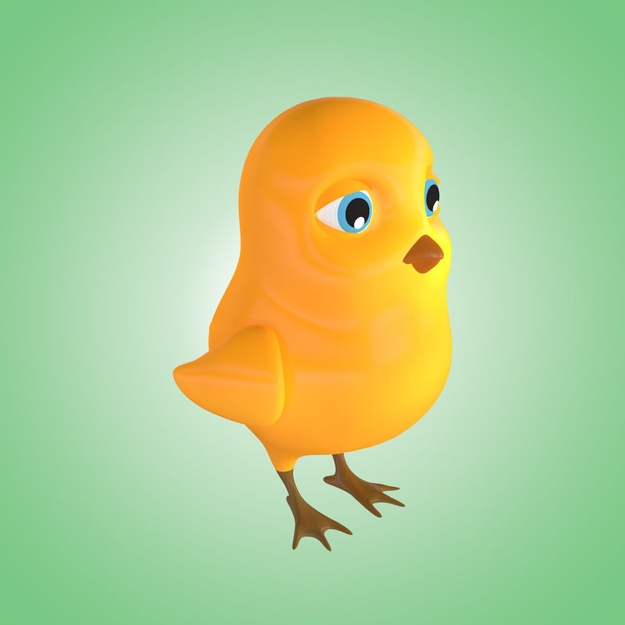 Chick royalty-free 3d model - Preview no. 2