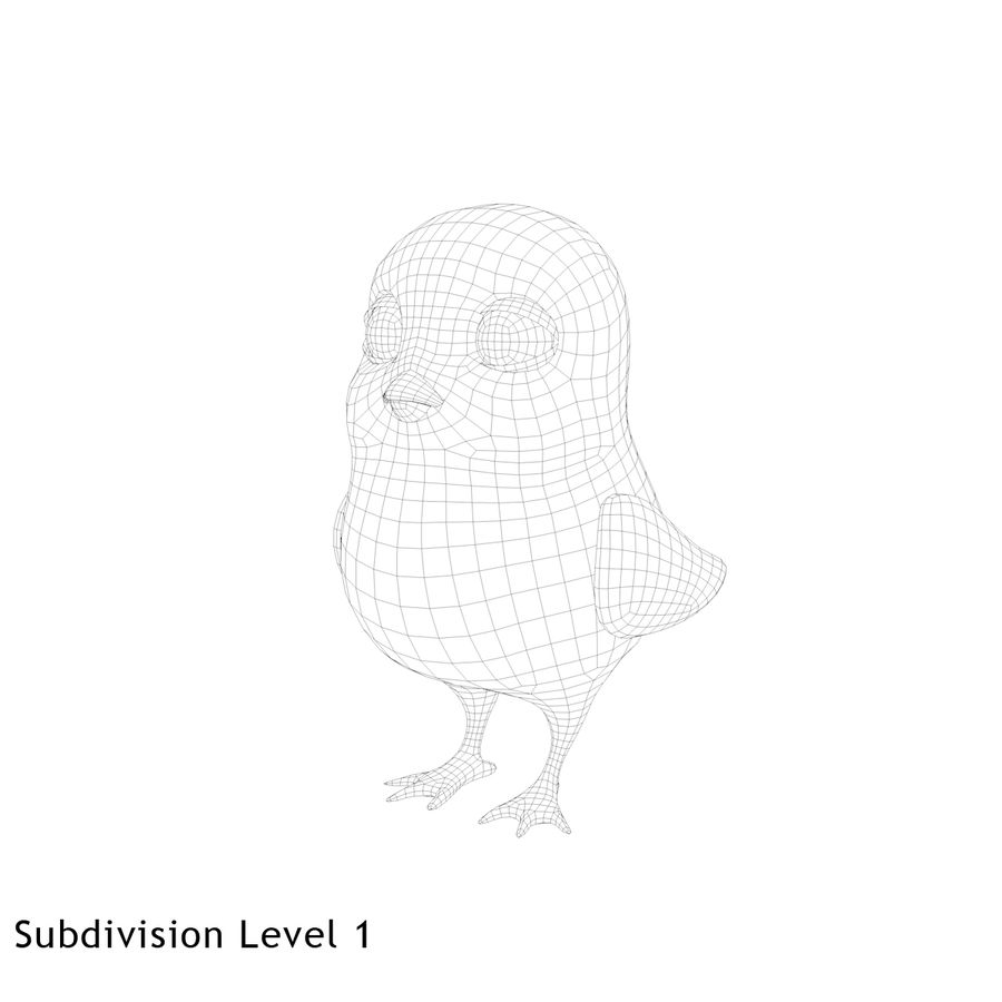Chick royalty-free 3d model - Preview no. 9