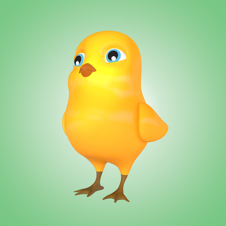 Chick royalty-free 3d model - Preview no. 6