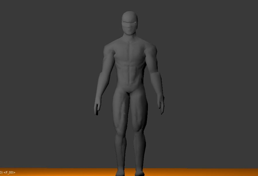 Animated male character royalty-free 3d model - Preview no. 2