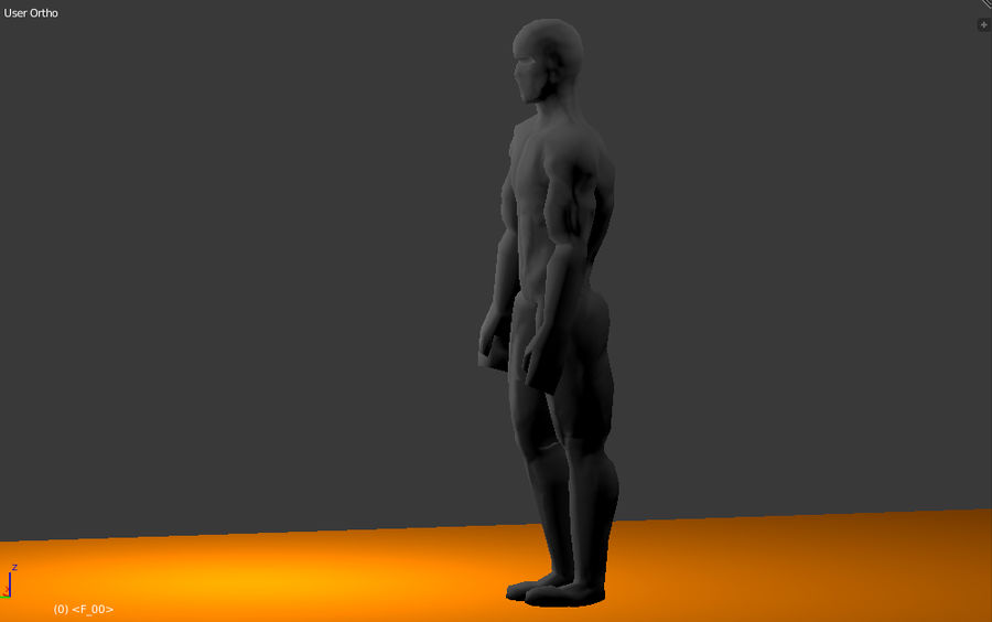 Animated male character royalty-free 3d model - Preview no. 5