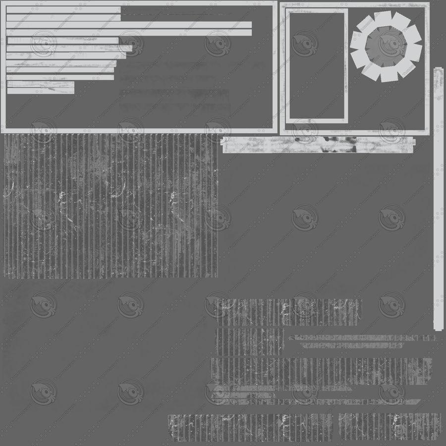 セキュリティポスト royalty-free 3d model - Preview no. 9
