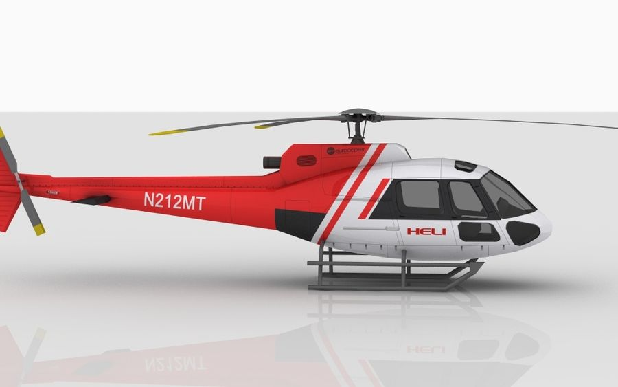 Eurocopter AS350 Skin 4 royalty-free 3d model - Preview no. 3