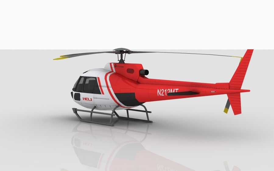 Eurocopter AS350 Skin 4 royalty-free 3d model - Preview no. 5
