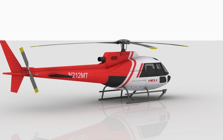 Eurocopter AS350 Skin 4 royalty-free 3d model - Preview no. 4