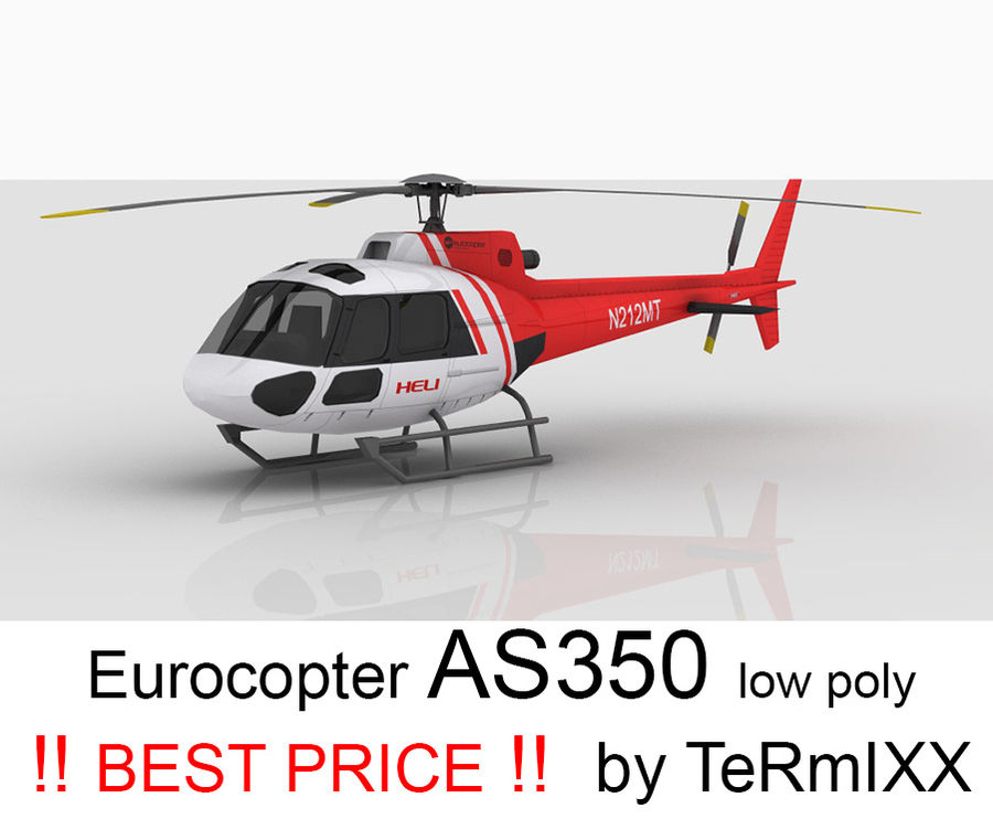 Eurocopter AS350 Skin 4 royalty-free 3d model - Preview no. 1