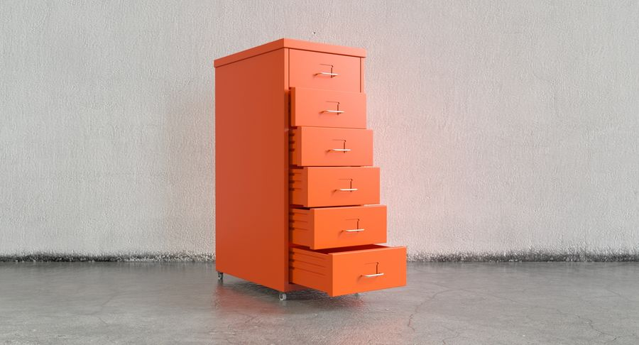 IKEA Helmer - drawer royalty-free 3d model - Preview no. 2